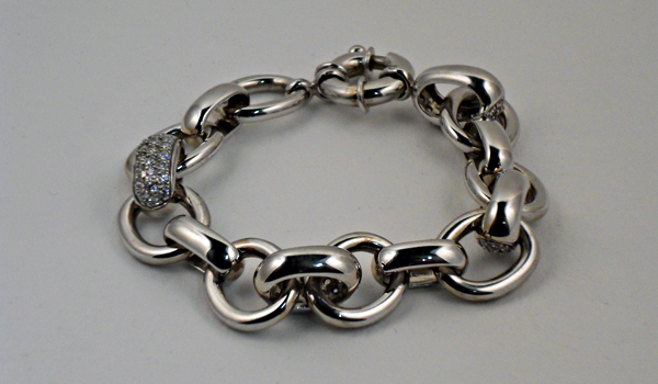 Bracelet \u201cForçats\u201d Argent